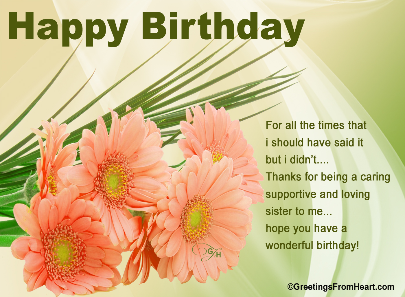 Happy birthday greetings happy birthday greeting for sister birthday greetings for sister m4hsunfo