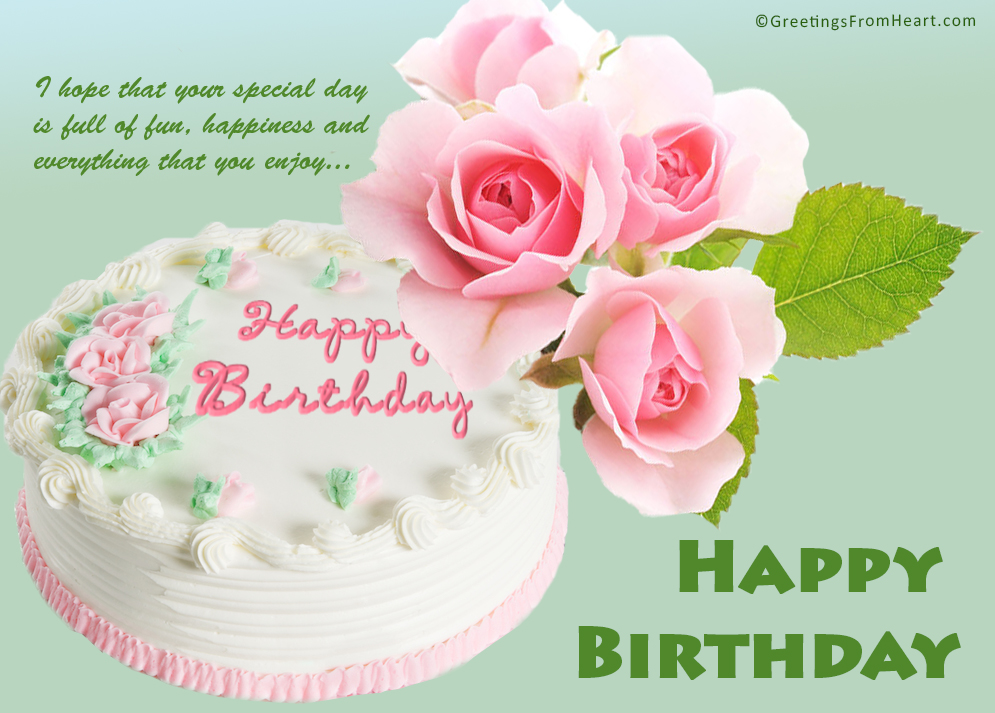 Birthday Wishes Images With Cake And Flowers : Birthday Ecards With Cake And Flowers ~ Image Inspiration ...