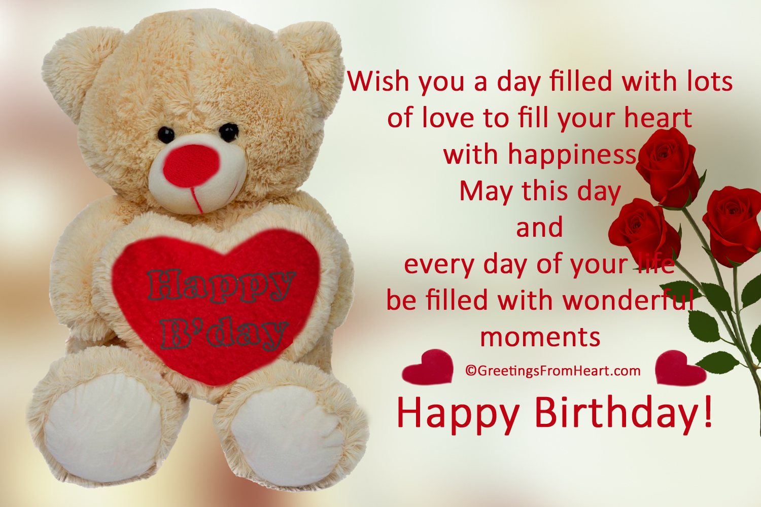 Cute Happy Birthday Greetings