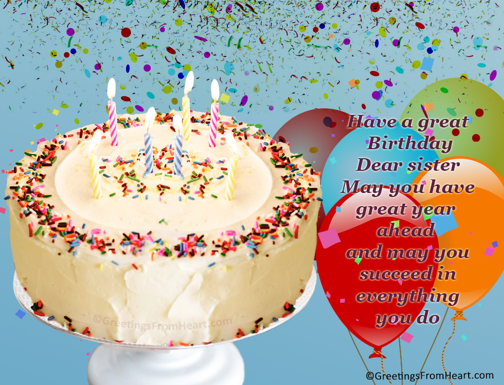Birthday greetings for sister birthday wishes for sister birthday greeting for sister m4hsunfo