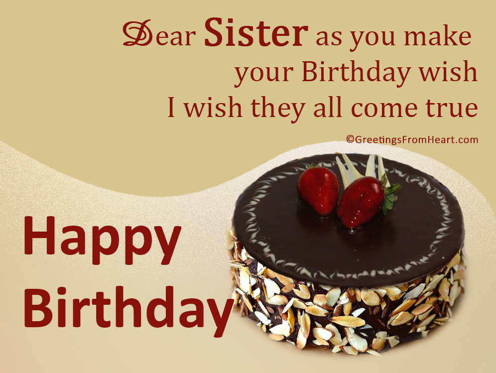 Birthday Greetings For Sister – Birthday Greeting for Sister