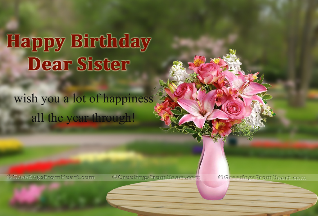 Happy birthday birthday wishes for sister m4hsunfo