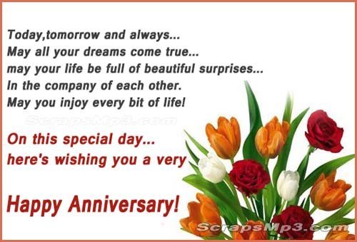 Anniversary wishes,scraps,glitter for Orkut,MySpace,Hi5 Tagged, Friendster and Facebook