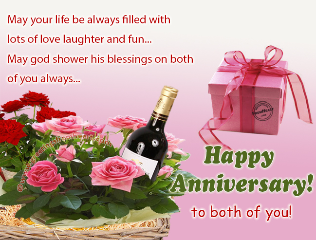 Anniversary greeting card wishing anniversary to couple m4hsunfo