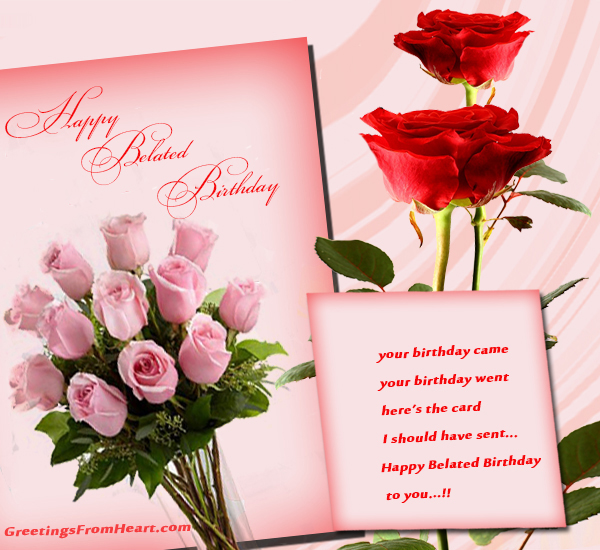 Similiar Happy Belated Birthday Cards For Facebook Keywords – Late Birthday Card Messages