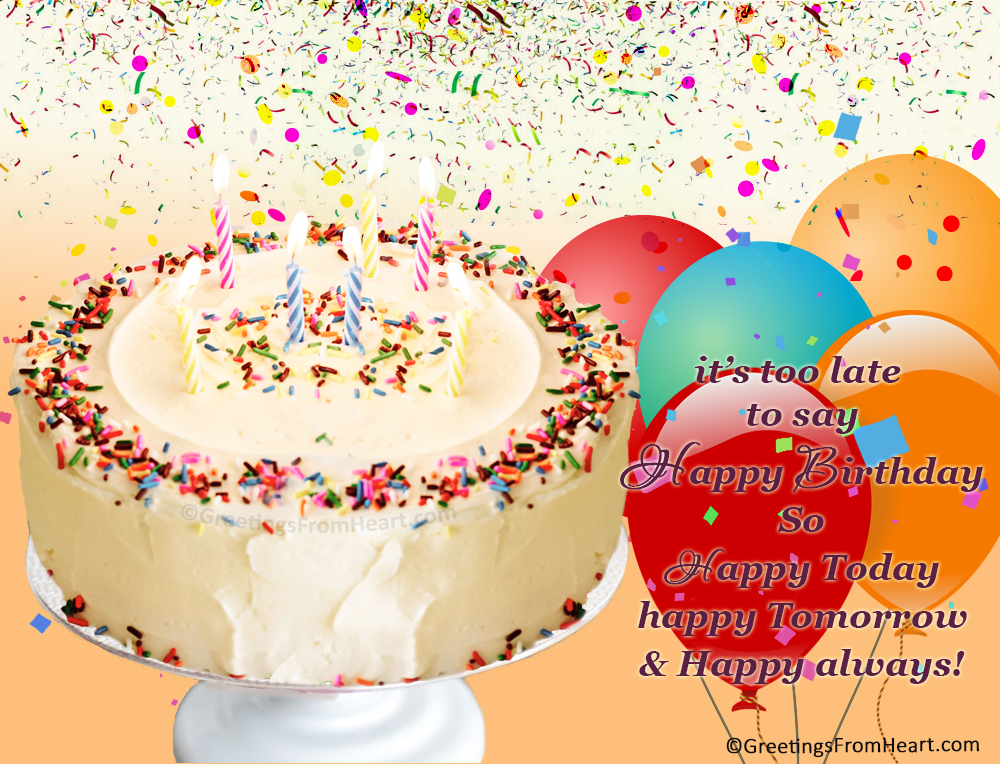 Late birthday wishes happy belated birthday greetings belated late birthday wishes m4hsunfo