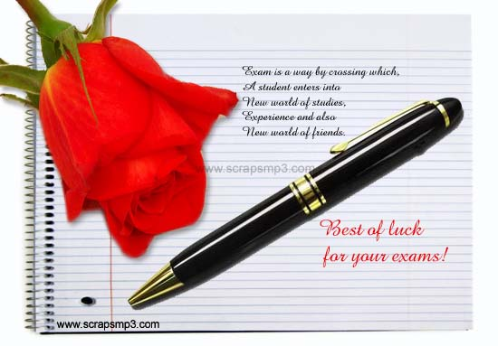 Good Good Luck For Examinations  Exam Best Wishes Cards