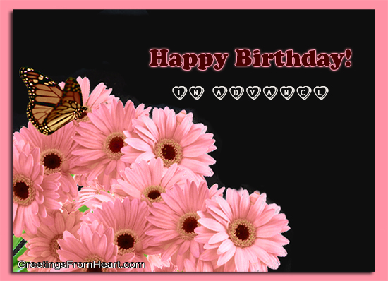 happy Birthday advance scraps glitter graphic for Orkut facebook myspace