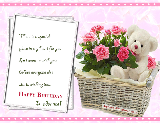 happy Birthday advance image for Orkut facebook myspace