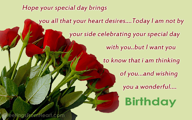 Birthday Greeting With The Bouquet Of Beautiful Red Roses