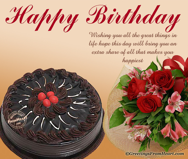 Birthday Wishes Images With Cake And Flowers : birthday greetings, birthday greetings 4 facebook,orkut