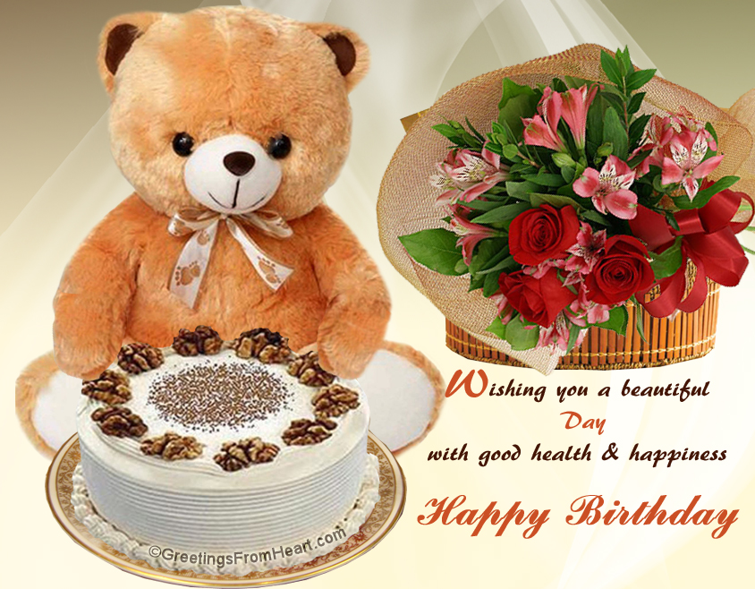 Happy birthday greeting wishing a beautiful day with good health birthday greeting m4hsunfo