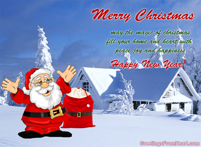 merry chrismas greeing card