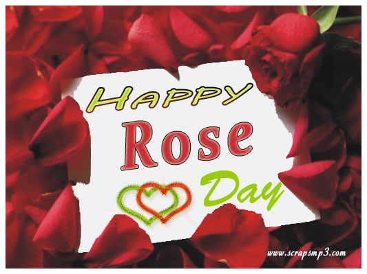 happy rose day greeting card