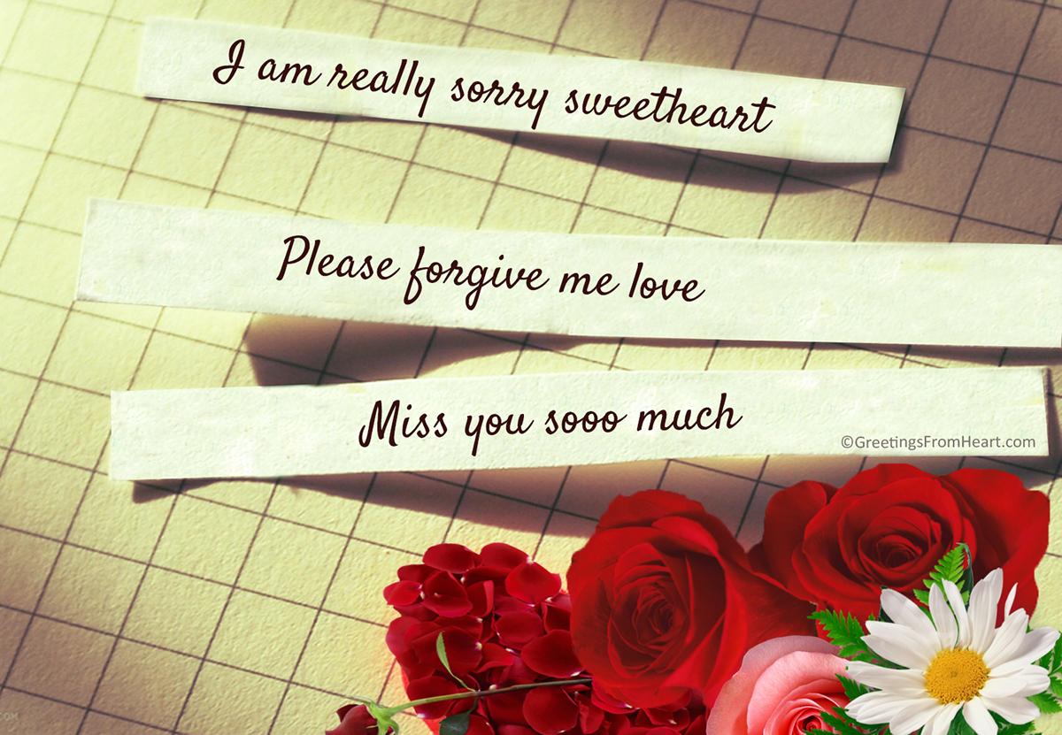 i am really sorry sweetheart
